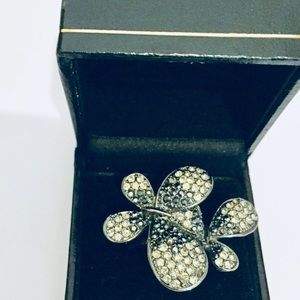 Jewelry - Pave ombré butterfly ring rhodium plated